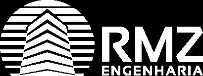 Logo da RMZ Engenharia na cor branca